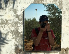 Old mirror (Yazan_) Tags: mirror old decay rural reflection bathroom selfie selfportrait color olive trees nature