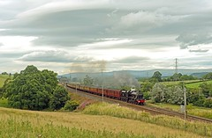 Leander at Great Strickland (FlyingScotsman4472) Tags: lms jubilee 45690 leander steam main line wcml cubria great strickland cme cumbrian mountain express 6th august 2016