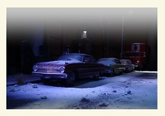 Late Night Snow 3 (gpholtz) Tags: diorama miniatures 118 diecast 1963 ford falcon