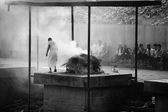 Hindu Cremation ( Jamie Mitchell) Tags: hindu cremation hinduism nepal kathmandu nepalese nepali death black white people fire burning temple mandir travel asia