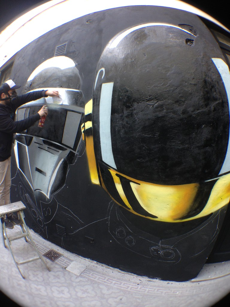 The world 39 s most recently posted photos of daft and punk for Daft punk mural