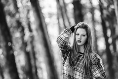 Trunks (raisinsawdust - (aka: withaneyephotography)) Tags: light bw woman girl lady female model nikon bokeh tennessee session 2014 d600 nikond600