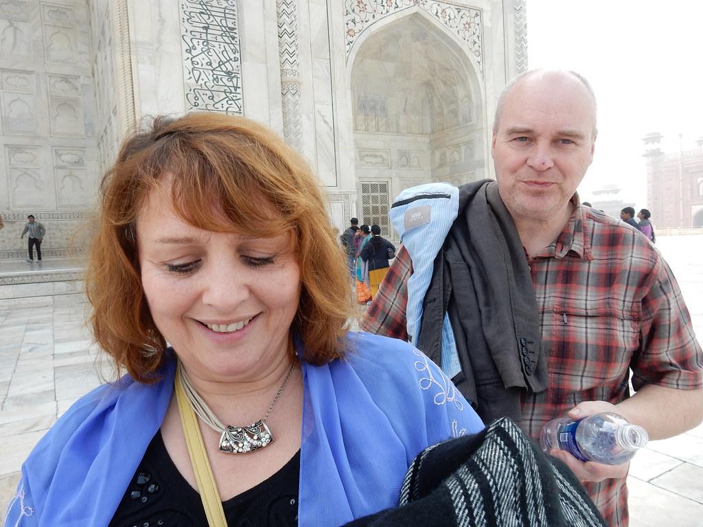 Mason parents at the Taj Mahal