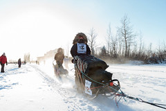 One Two Going Through (yukonchris) Tags: winter canada cold ice nature beauty landscape outside north yukon 12 icefog northern whitehorse genre sleddogs intothesun yukonquest dogsledrace northof60 sleddograce southernyukon deepcold yukonrivervalley canon7d kristinknightpace