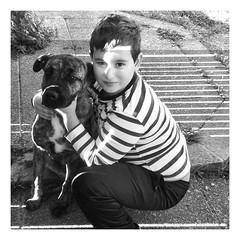 Martino e tigre (Raissa Fitzgerald Photographer) Tags: portrait white black animals hug bn hugs bianco ritratto nero tigre martino bianconero animali abbraccio musino
