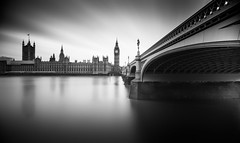 Overtime (TS446Photo) Tags: camera longexposure england bw white black london classic water westminster architecture club photography nikon df europe view britain top bigben visit idol dslr favourite protector attraction lplate 13stops ts446