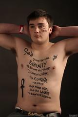 Body painting / Tattoo makeup (GQ Gallery) Tags: bear shirtless man make tattoo cub model tribal topless bodypainting chunky stocky egytpian