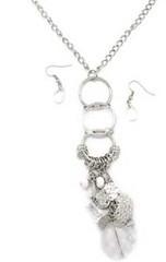 5th Avenue White Necklace P2620A-1