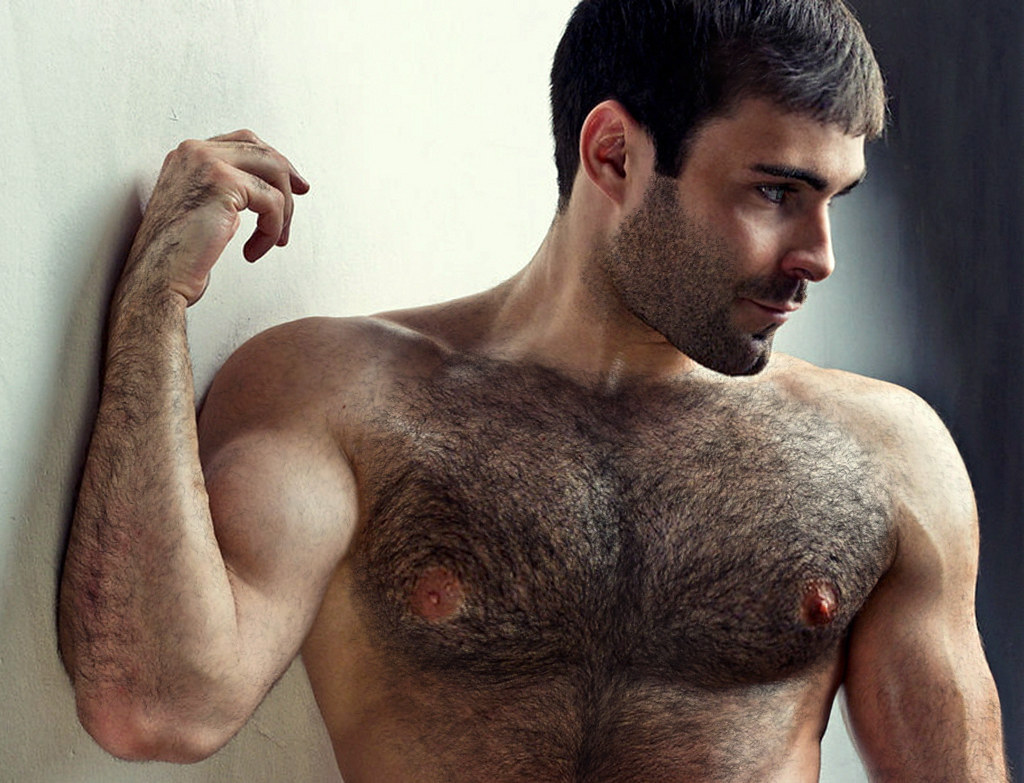 muscles hairy chest