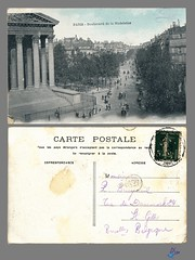PARIS Boulevard de la Madeleine (bDom [+ 3 Mio views - + 40K images/photos]) Tags: paris 1900 oldpostcard cartepostale bdom