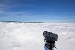 Panning Timelapse Setup with the Radian from Alpine Labs (John Hill Photography) Tags: city bridge 2 lighthouse canon mac mark sigma lakemichigan ii 7d 1020mm straits 1020 f4 lakehuron mackinacbridge mackinac 24105 uwa straitsofmackinac f4l 24105mm mightymac 7d2 7dmark2