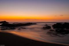 Iloca beach (Ricardowsky_) Tags: chile longexposure sunset summer orange sun sol beach de atardecer mar sand agua nikon rocks playa arena verano puesta talca maule largaexposicin flickrchile chileflickr nikond3000