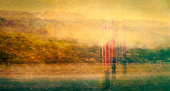 Harbour Navigation (rayfidler3560) Tags: november newzealand painterly book memories textures otago boattrip icm 2014 intentionalcameramovement