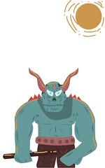 Deon (guillermoortix94) Tags: blue sun sol illustration digital war vectorart digitalart whitebackground vector deon monstruo guerrero adobeillustrator vectores guillermortix