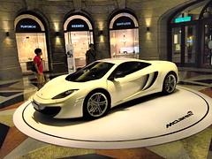 Display of a McLaren supercar in a shopping center, central Taipei!