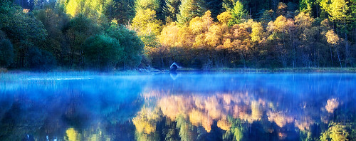 morning reflection reflections scotland boathouse trossachs chon morningmist lochchon