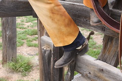 COWBOY CHAPS N SPURS (AZ CHAPS) Tags: ranch leather spurs cowboy boots wranglers chaps corral