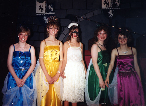 1987 Sleeping Beauty 03 (from left Georgina Roddis, Lyndsay Gunn, Natalie Ann Boswell, Sarah Fielding, Denise Turner)