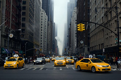 NYC 10 (Casey Lombardo) Tags: city nyc newyorkcity winter urban newyork manhattan taxi streetphotography taxis empirestate citystreets taxicabs
