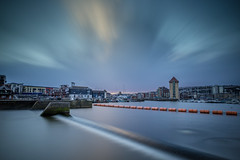 Storm Approaching (Tim Bow Photography) Tags: longexposure light sunset sky cloud sun color colour water swansea clouds dark landscape skies british welsh swanseamarina drifting colourfulskies timboss81 timbowphotography longexposureswansea longexposureswanseamarina