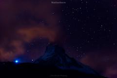Matterhorn (Julien Bukowski) Tags: summer mountain water montagne landscape switzerland eau europe suisse che zermatt matterhorn paysage ch valais nightpicture cervin et poselongue photodenuit