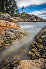 Lighthouse Park, West Vancouver, BC (PIERRE LECLERC PHOTO) Tags: longexposure sea lighthouse canada water vancouver landscape rocks bc britishcolumbia westcoast westvancouver lighthousepark pierreleclercphotography canon5dsr