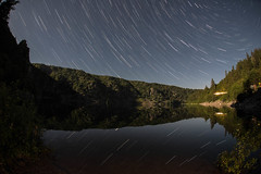 Star trails over the lake - Lac Blanc, Vosges (Brieuc.Baillot) Tags: stars trails startrails starstax stack lake vosges lacblanc alsace 68 2016 summer moon fuulmoon night nikon d600 nightphotography photography astrophotography astro photograpphy sigma fisheye 15mm sigma15mm f4 wide angle wideangle reflections full frame fullframe