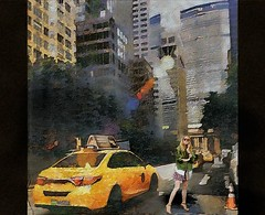 Yellow cab__NYC (skizo39) Tags: taxi yellow cab woman newyork collage layers art digitalprocessing digitalmanipulation digitalart digitalpainting photomanipulation colors colorful graphic graphical design