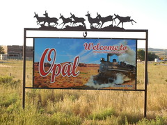 Welcome to Opal, Wyoming (jimmywayne) Tags: wyoming lincolncounty opal historic ghosttown welcome sign citylimit