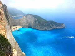 Birds eye (icemanphotos) Tags: travel sky blue solitude seascape view shipwreck zakynthosisland zakynthos greece cliff cliffs bat cove beach landscape
