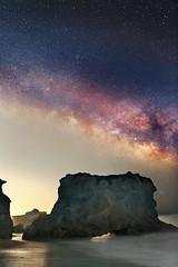 Malibu Beach Night (rcollins42) Tags: ocean california longexposure travel sky beach water canon way stars landscape photography space malibu explore galaxy astrophotography reid 24mm collins milky nationalgeographic 5dmarkiii rcollins42