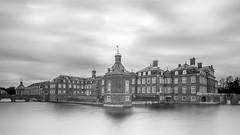 Westphalia Castle (frank_w_aus_l) Tags: nordkirchen versaillesofwestphalia germany nikon d800 longexposure wideangle monochrome bw noiretblanc reflection water sky nordrheinwestfalen deutschland de wow