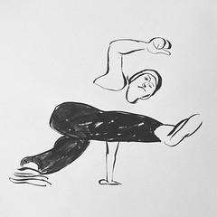 Kickback swing  #Bboy #ink #drawing #brush #dance #hiphop #art #illustration #bboying #artwork #comic #dynamic #Footwork #kick #breakdance #blackandwhite #dancer (Emanuele Pavarotti) Tags: instagram new york usa iphone4s