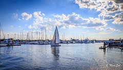 It's time (Morkos Salama) Tags: flickrsbest water nature canon landscape boat relax peace calm beauty clouds sea blue sky sail