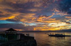 Switching the light off (Nugohs1) Tags: sunset coucherdesoleil paysage landscape colors color colorfoul beautiful boat shore philippines moalboal cte mer sea