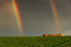 Double Rainbow (emanuelezallocco) Tags: landscape rainbow tramonto double ombre hills campagna fields arcobaleno luce marche paesaggio macerata doppio balle campi montelupone marchigiana