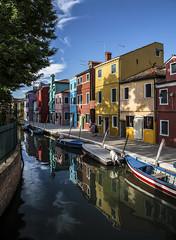Burano. (Antonio DP) Tags: burano venezia venice summer 2016 sea river water blu sky clouds