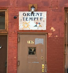 ORIENT TEMPLE (Stewf) Tags: type:face=itcbenguiat weathered sign