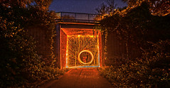 Lightpainting (Lachsy) Tags: lightpainting essenkaternberg brcke stahlwolle a77ii hdr sony 1650mm lichtmalerei