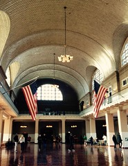 The Registry Room (Andrs Guardia) Tags: registry room nyc new york usa flags ellis island immigrants entrance america hall museum