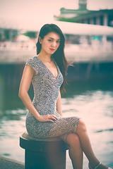 Landing Steg (juliusengel) Tags: hongkong women girl pretty cute asia asian dress vintage canon 85mm f18