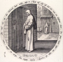 He begs in vain because he shouts at the door of a deaf person (petrus.agricola) Tags: twelve proverbs flemish dutch after pieter bruegel elder etching probably hieronymus wierix jeronymus