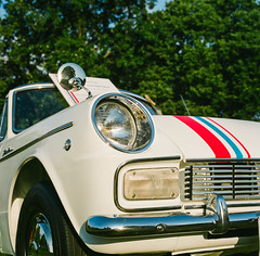 A Toyota what? (GmanViz) Tags: car automobile gmanviz detail color 1965 toyota publica convertible headlight grille bumper fender mirror film analog 120 6x6 mediumformat hasselblad 500cm zeissplanar80mmf28 fujifilm pro400h