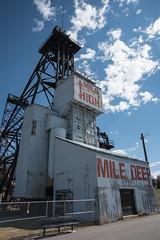 Mile High, Mile Deep (John Nefastis) Tags: montana landscape 2016 nikon mine copper butte shaft mineshaft sky clouds blue