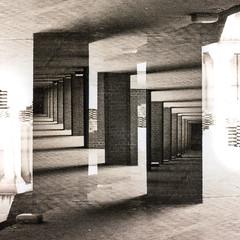 Infinite 10 (Alistair Peck) Tags: infite perspective diagonal convergence converging doubleexposure film canona1 fd analogue oldskool infinite ilfordxp2super