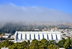 blue sky, Cow Palace, fog, sun, wind (David McSpadden) Tags: bluesky cowpalace fog sun wind dalycity ca usa