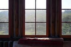 Morning Light (pantagrapher) Tags: silver leaf winery suttons bay michigan cabin windows morning sunlight nikon d600