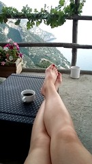 Moments of relaxation (A blond-Tess) Tags: italy nocelle positano mediterranean mountains sea relaxing puttingmyfeetup serenity life happiness italian view amalfi amalficoast