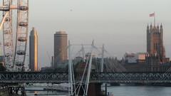 View from Waterloo bridge (Londrina92) Tags: london londra sunset tramonto londoneye bigben thames river tamigi fiume water view panoramic panorama outdoor