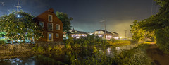 365-266 ( estatik ) Tags: 365266 365 266 august62016 8616 aug sat saturday night panorama longexposure noturne delaware raritan canal park dr tow path addisonwolfe mill newhope pa pennsylvania train station old historic reflection buckscounty summer stars star trails hot humid